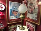 Antique GWTW Parlor Lamp Converted to Electricity with Frosted Quilted Globe
