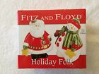 Fitz and Floyd Holiday Folk Salt and Pepper Shakers