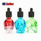 30ML Colorful Translucent Skull Glass Dropper Bottle Liquid Perfume Container