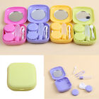 Travel Outdoor Cute Mini Storage Contact Lens Case Holder Mirror Box Container