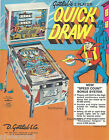 QUICK DRAW - 1975 Gottlieb Pinball Flyer