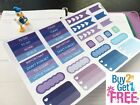 PP222 34pcs Blue Functional Boxes Life Planner Stickers for Erin Condren