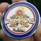 PREMIUM MLB Chicago Cubs 2016 World Series Champs Poker Card Protector Coin NEW