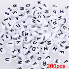 200 X Coin Plastic Alphabet Letter Loose Beads 027 T1