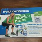 Weight Watchers Stability Ball Kit DVD New Fitness Exercise Tracker Belly Butt