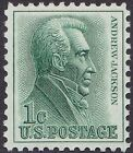 US 1963 1 Cent Green Andrew Jackson Prominent Americans Regular Issue 1209