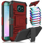 Hybrid Belt Clip Holster Kickstand Case Cover For Samsung Galaxy S6 Active Edge+