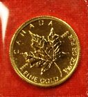 2010 CANADIAN GOLD MAPLE LEAF 1/10 oz .9999% BU GREAT COLLECTOR COIN GIFT