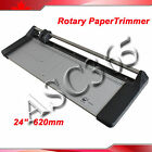Safety Protection24In 620mm Rotary Photo Vinyl Paper Cutter Portable Trimmer
