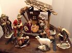 Oversized 20 Porcelain Fabric Nativity Members Mark Detailed Gorgeous