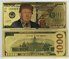 $1,000.00 President Donald Trump 24kt Gold Plated Commemorative Bank Note Item