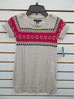 Girls Nautica 3650 Beige Heather Sweater Dress Size 4 6X