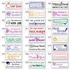 custom name rubber stamp self inking school teacher homework from the library of
