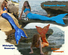 Mermaid Tail with Monofin US MADE Mermaid Tail or Top Swimmable Fun Swim Fin