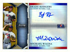2011 BOWMAN STERLING MICHAEL WACHA BRADY RODGERS RC GOLD REFRACTOR AUTO #3 50