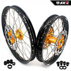 SUZUKI MX WHEELS RIMS SETS RM125/250 RM125 RM250 2001-2008 GOLD  21/19 DISC GOLD