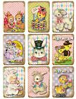 9 Vintage Retro Easter Hang Tags Scrapbooking Paper Crafts 218