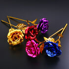24K Gold Plated Golden Rose Flower Valentines Day Lovers Gift Romantic Day