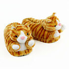 Orange Tabby Cat Slippers Animal Slippers Adult  Kids Sizes In Stock