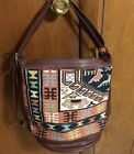Leather Handmade Purse With Aztec Woven Design. Turkish Delight.