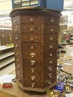 Vintage Antique Octagonal Hardware Store Screw Cabinet