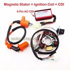 Scooter Racing Stator Magneto Ignition Coil CDI For ATV GY6 50cc Moped Go Kart