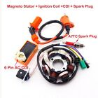 Magneto Stator Ignition Coil CDI Spark Plug GY6 125cc 150cc Engine Moped Scooter