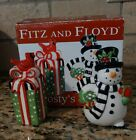 2010 Fitz and Floyd Frosty's Frolic Salt and Pepper Shakers Snowman