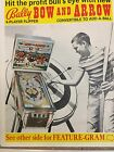 BOW AND ARROW BY BALLY PINBALL PROMO BROCHURE-