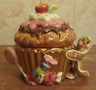 Fitz and Floyd Candy Lane LIDDED BOX Porcelain Cupcake Trinket NEW IN BOX