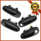 4PCS Outside Front Rear Left  Right Black Door Handle for 1993 1997 GEO PRIZM