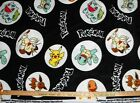 Black POKEMON Character FLEECE FABRIC BY THE YARD Pikachu and more