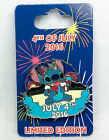Disney Pin 4TH OF JULY 2016 STITCH Spinner Limited Edition