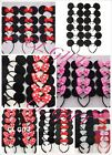 12pc Mickey Minnie Mouse Ears Headband Black Red Pink Bow Party Favors Costume