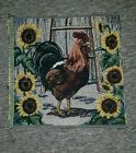 Rooster Sunflower Tapestry Fabric Panel
