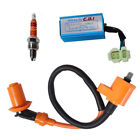 Racing Ignition Coil + Spark Plug + CDI Box For GY6 50cc 150cc Sctooer 4 Stroke