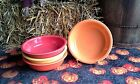Lot 4 19OZ CEREAL soup BOWL scarlet tangerine poppy sunflower FIESTAWARE FIESTA