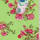 Lime Green Floral Triple Georgette Fabric By The Yard