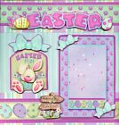 EASTER egg hunt 2 premade scrapbook pages paper piecing layout 4 album BY CHERRY