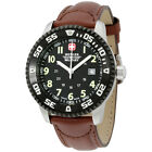 Wenger Swiss Military Black Dial Brown Leather Strap Men's Watch 72942