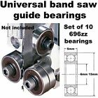 Universal Band Band Saw Accessories Saw Guide Bearings (Set of 10 Bearings Only)