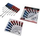 9pc Pro GO THROUGH SCREWDRIVER SET by NEILSEN TOOLS Magnetic Slotted