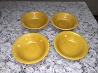 Vintage Fiesta Antique Gold 4 Cereal Bowls 6 3/8 Inches