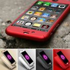 360 Protective Hard Thin Case Cover+Tempered Glass For Apple iPhone 6 6S 7 Plus