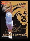 CARMELO ANTHONY GOLD SHARPIE ! AUTO SIGNED AUTOGRAPH FLEER BEAUTIFUL EXAMPLE