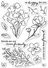 Poppystamps Craft Die Friends and Flowers Clear Stamp Set