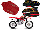 KIT SEAT COVER & TANK DECALS  HONDA XR250R XR 250 2000 FREE SHIPPING WORLDWIDE
