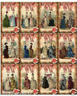 SM VICTORIAN LADIES SCRAPBOOK CARD EMBELLISHMENTS HANG GIFT TAGS
