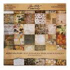 Collage Mini Paper Stash by Tim Holtz Idea ology 36 Sheets Double Sided 8 x 8