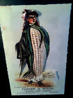 seed card art Lady Corn in 3 D Poster Vintage large 11x17